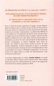 Féminismes et pop culture - 4ème de couverture - Format classique