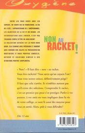 Non Au Racket ! - 4ème de couverture - Format classique