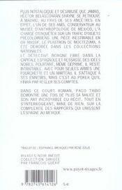 Adios Madrid - 4ème de couverture - Format classique