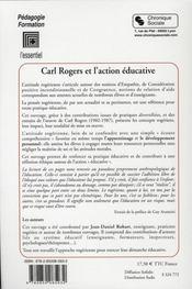 Carl Rogers et l'action éducative - 4ème de couverture - Format classique