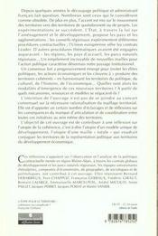 L'Utopie Des Territoires Coherents - 4ème de couverture - Format classique