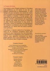 La turquie chrétienne - 4ème de couverture - Format classique