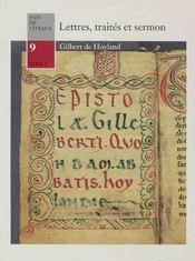 Lettres, traités et sermon - Couverture - Format classique