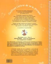 Dégourdie et compagnie ; vivre un sentiment de compétence scolaire - 4ème de couverture - Format classique