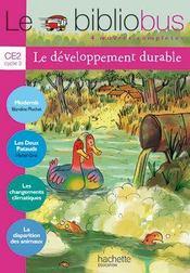 Le bibliobus t.29 ; CE2 ; le développement durable ; livre de l'élève - Couverture - Format classique