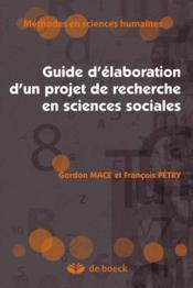 Guide d'élaboration d'un projet de recherche en sciences sociales (4e édition) - Couverture - Format classique