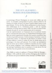 The sun also rises : roman holographique - 4ème de couverture - Format classique