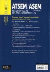 ATSEM / ASEM ; agent spécialisé des écoles maternelles - 4ème de couverture - Format classique
