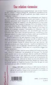 Une Relation Viennoise - 4ème de couverture - Format classique