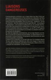 Liaisons dangereuses ; miliciens, truands, résistants ; Paris 1944 - 4ème de couverture - Format classique