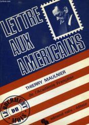 Lettre Aux Americains - Couverture - Format classique