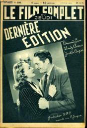 Le Film Complet Du Jeudi N° 2354 - 18e Annee - Derniere Edition - Couverture - Format classique