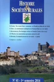 Revue Histoire Et Societes Rurales N.41 - Couverture - Format classique