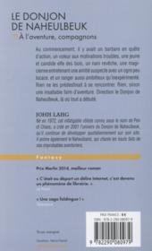 Le donjon de Naheulbeuk ; à l'aventure, compagnons ! - 4ème de couverture - Format classique
