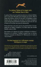 Les enquêtes de Setna t.4 ; le duel des mages - 4ème de couverture - Format classique