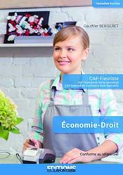 Economie Droit Cap Fleuriste 3eme Edition - Couverture - Format classique