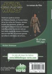Star Wars - épisode VII ; le réveil de la force ; le roman du film - 4ème de couverture - Format classique