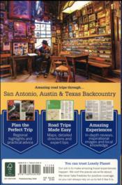 San Antonio, Austin & Texas backountry ; road trips - 4ème de couverture - Format classique