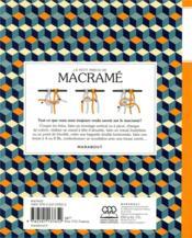 Le petit précis de macramé ; toutes les techniques de base pour les débutants et les plus expérimentés - 4ème de couverture - Format classique