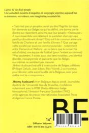 Belges - 4ème de couverture - Format classique