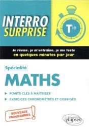 Spécialité mathématiques ; terminale, nouveaux programmes - Couverture - Format classique