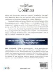 Petite excursion dans le cosmos - 4ème de couverture - Format classique