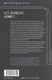 Derniers hommes (les) - 4ème de couverture - Format classique