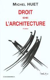 Droit de l'architecture (3e édition) - Intérieur - Format classique