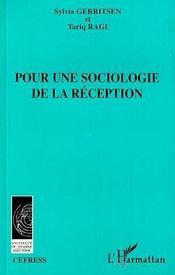 Pour Une Sociologie De La Reception - Intérieur - Format classique