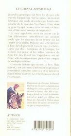 Le Cheval Appaloosa - 4ème de couverture - Format classique