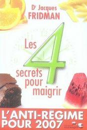 Les quatre secrets pour maigrir - Intérieur - Format classique