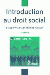 Introduction au droit social - Intérieur - Format classique