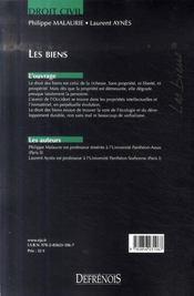 Les biens (3e édition) - 4ème de couverture - Format classique