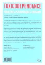 Toxicodependance vol 2 problemes psych - 4ème de couverture - Format classique