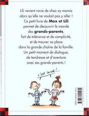 Lili découvre sa mamie - 4ème de couverture - Format classique