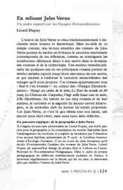 En relisant Jules Verne - 4ème de couverture - Format classique