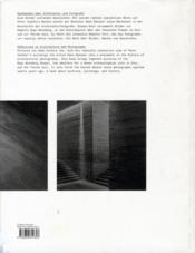 Seeing zumthor images by Hans Danuser - 4ème de couverture - Format classique