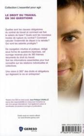 Le droit du travail en 360 questions (2e édition) - 4ème de couverture - Format classique