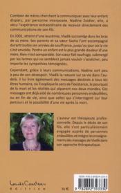 Tu seras ma voix ; messages de Vladik à sa mère (1980-2001) - 4ème de couverture - Format classique