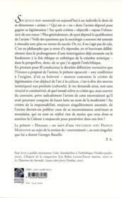 Discours Sur La Legitimation Actuelle De L'Artiste - 4ème de couverture - Format classique