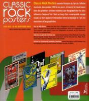 Classic rock posters ; 1952-2012 : 60 ans d'affiches rock - 4ème de couverture - Format classique