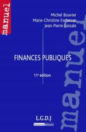 Finances publiques (11e édition) - Couverture - Format classique