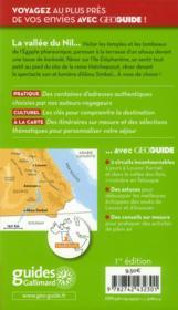 GEOguide ; vallée du Nil - 4ème de couverture - Format classique