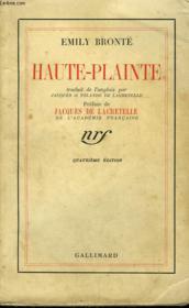 Haute-Plainte. - Couverture - Format classique