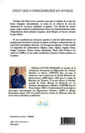 Le droit des hydrocarbures en Afrique ; recueil commenté de textes - 4ème de couverture - Format classique