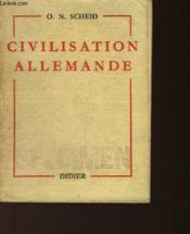 Civilisation Allemande - Couverture - Format classique