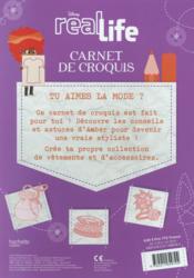 Real life ; Amber ; carnet de croquis - 4ème de couverture - Format classique