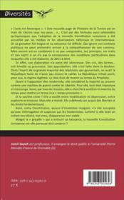 L'acte II de la révolution tunisienne : la constitution - 4ème de couverture - Format classique