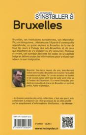 LES GUIDES S'INSTALLER A ; Bruxelles - 4ème de couverture - Format classique