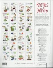 100 recettes à l'affiche - 4ème de couverture - Format classique